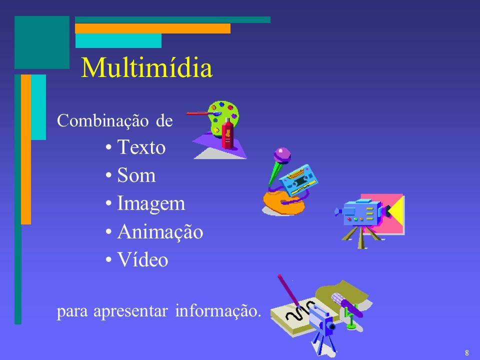 18 Facilidades desejáveis na multimídia educacional Opções de navegação Interatividade Flexibilidade