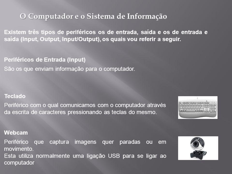 O Computador e o Sistema de Informação São os que enviam informação para o computador.