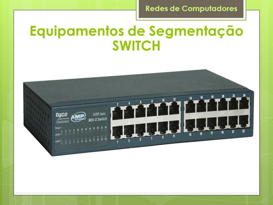 Redes de Computadores Equipamentos de Segmentação SWITCH