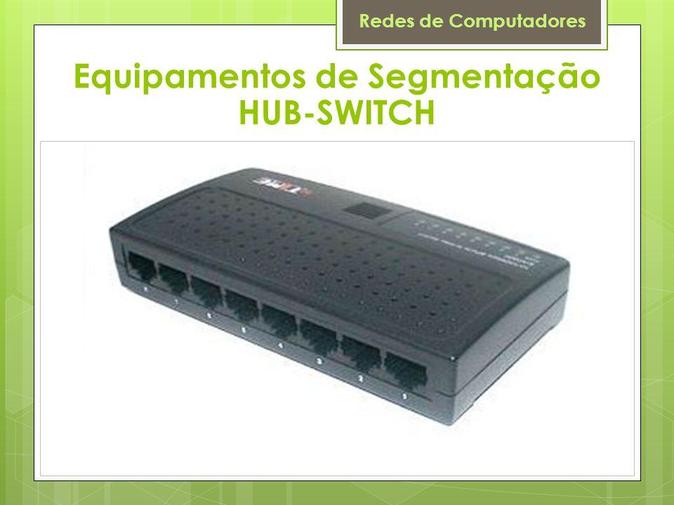 Redes de Computadores Equipamentos de Segmentação HUB-SWITCH