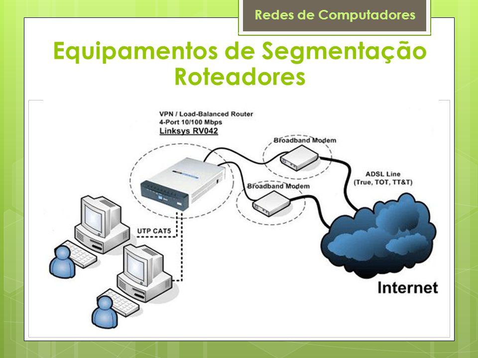 Redes de Computadores Equipamentos de Segmentação Roteadores