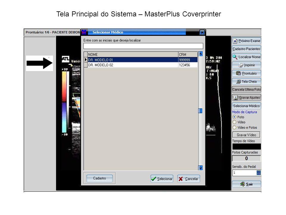 Prontuário / Impressões – MasterPlus Coverprinter PRONTUARIO IMPRESSÕES Permite acessar todos as impressões de imagens feitas, podendo mudar o layout