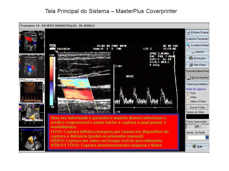Tela Principal do Sistema – MasterPlus Coverprinter