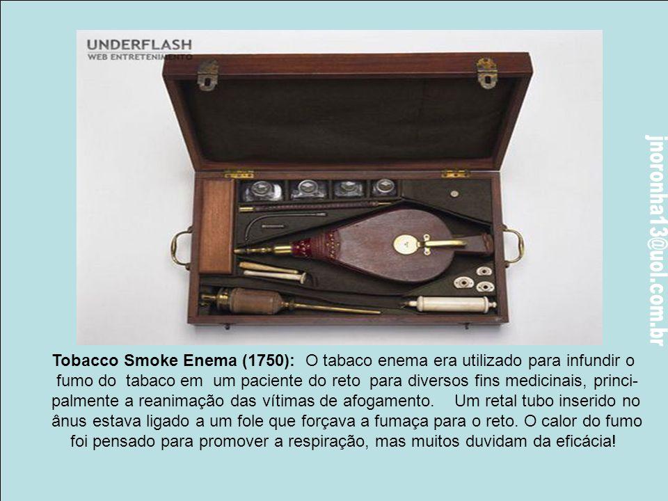 Boca Mordaça (1880): Conhece um parafuso? Conhece uma boca? Então…Esta madeira, em forma de parafuso era inserido na boca do paciente anestesiado para
