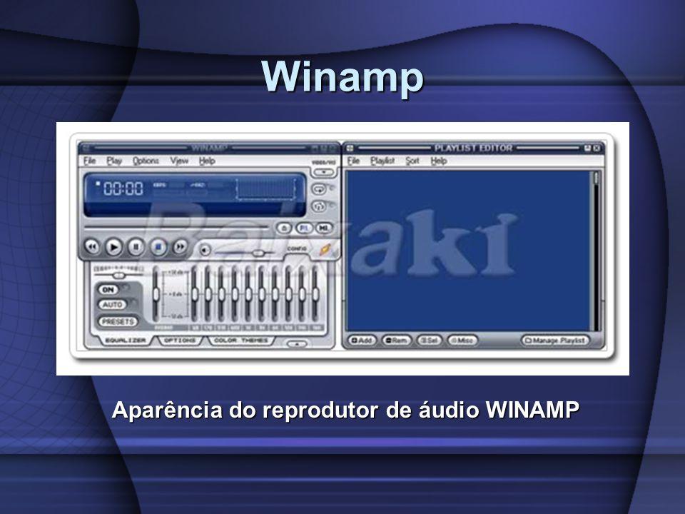 Winamp Aparência do reprodutor de áudio WINAMP