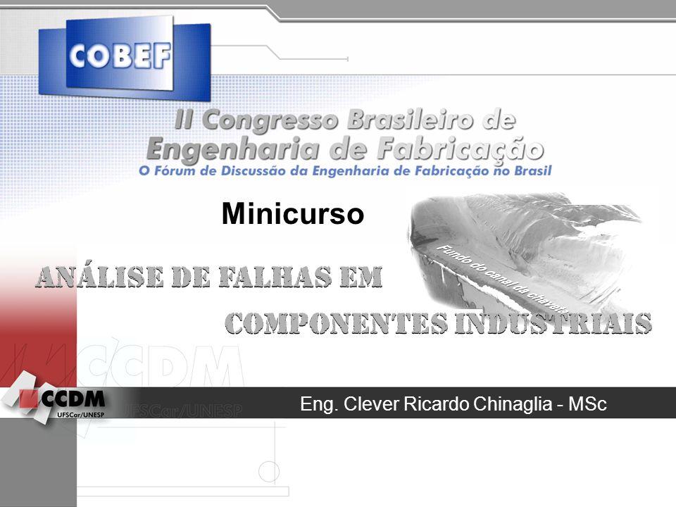 Eng. Clever Ricardo Chinaglia - MSc Análise de Falhas em Componentes Industriais Análise de Falhas em Componentes Industriais Minicurso