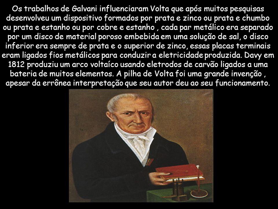 O médico italiano Luigi Galvani (1737-1798) idealizou as forças elétricas nos movimentos musculares: no ano de 1791, realizava experimentos quando obs