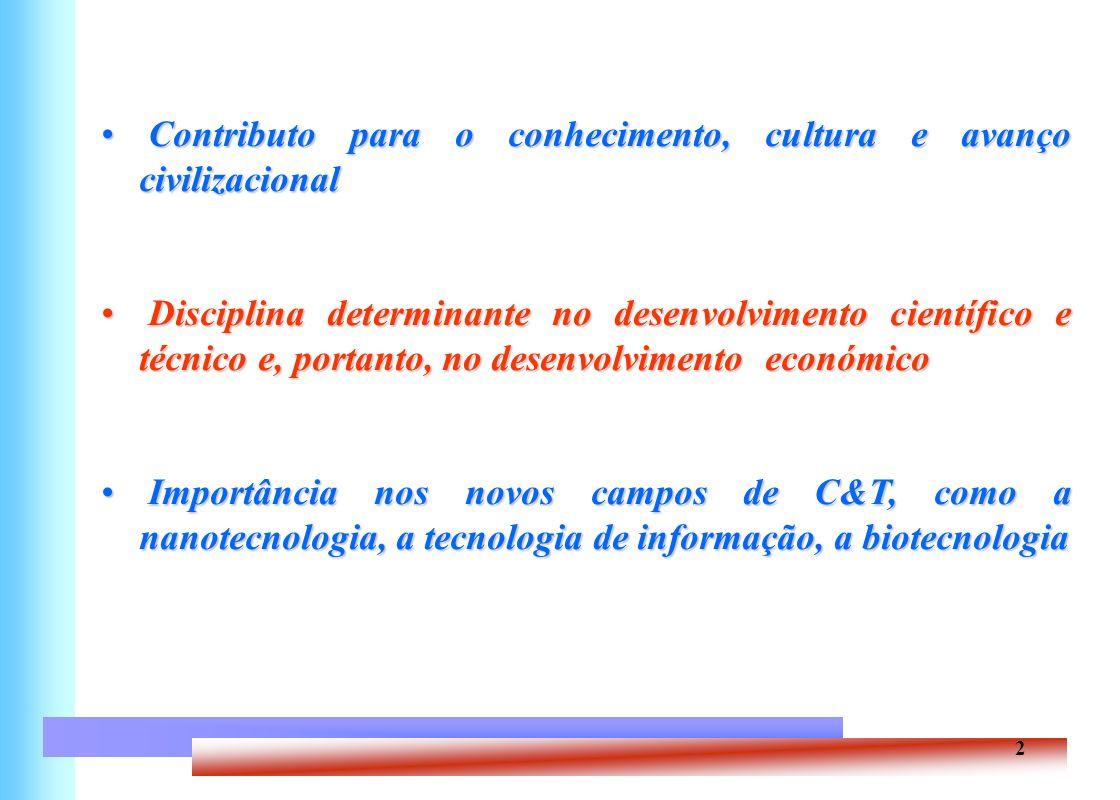 2 Contributo para o conhecimento, cultura e avanço civilizacional Contributo para o conhecimento, cultura e avanço civilizacional Disciplina determina