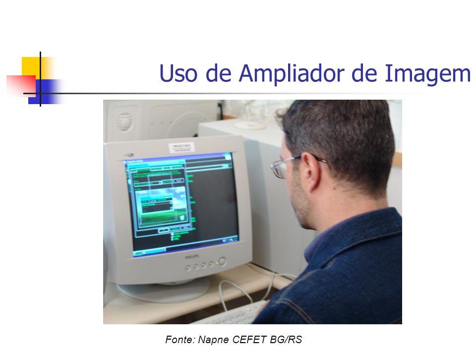 Uso de Ampliador de Imagem Fonte: Napne CEFET BG/RS