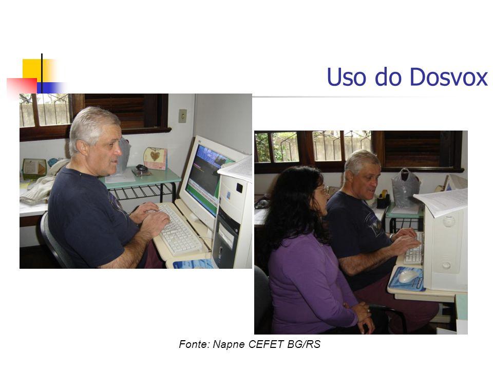 Uso do Dosvox Fonte: Napne CEFET BG/RS
