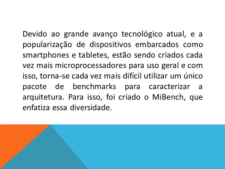 Devido ao grande avanço tecnológico atual, e a popularização de dispositivos embarcados como smartphones e tabletes, estão sendo criados cada vez mais microprocessadores para uso geral e com isso, torna-se cada vez mais difícil utilizar um único pacote de benchmarks para caracterizar a arquitetura.