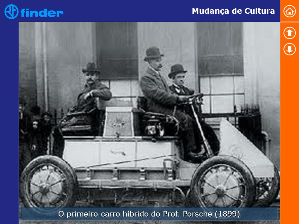 O primeiro carro híbrido do Prof. Porsche (1899) Mudança de Cultura