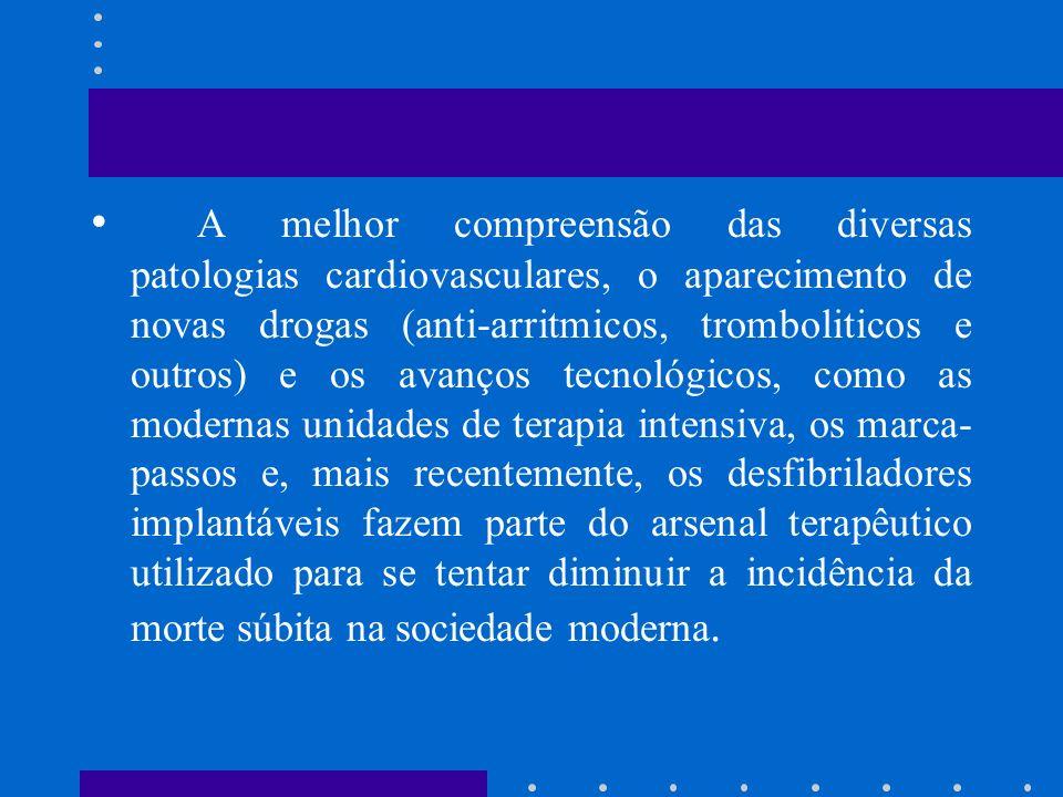 A melhor compreensão das diversas patologias cardiovasculares, o aparecimento de novas drogas (anti-arritmicos, tromboliticos e outros) e os avanços t