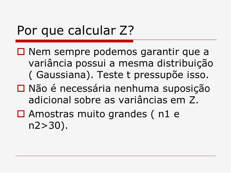 Por que calcular Z.