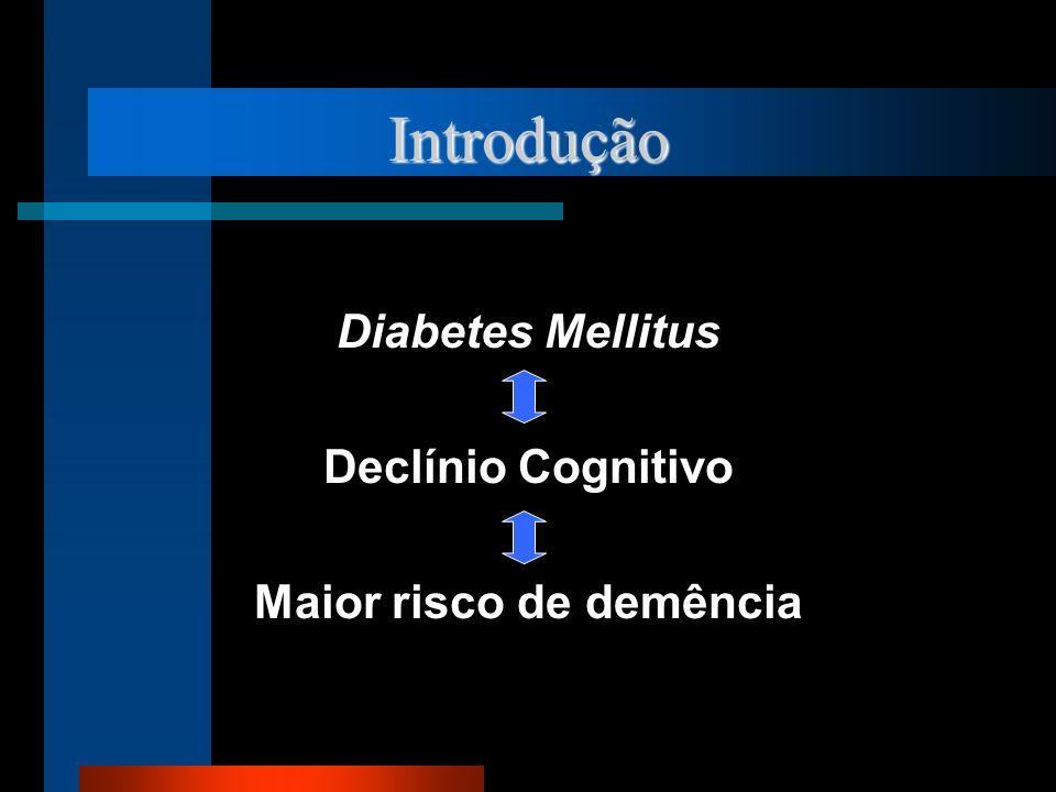 Introdução Diabetes Mellitus Declínio Cognitivo Maior risco de demência