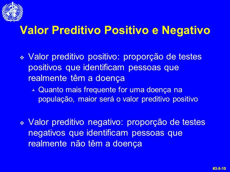 Valor Preditivo Positivo e Negativo Valor preditivo positivo: proporção de testes positivos que identificam pessoas que realmente têm a doença © Quant