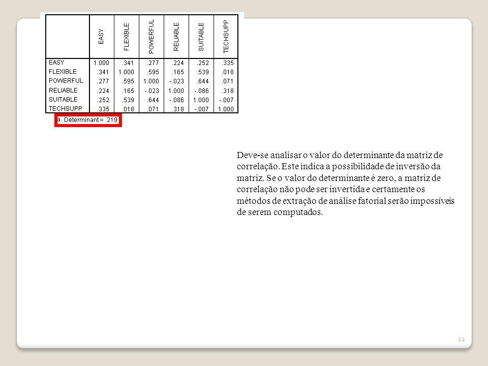 13 Estes valores representam a significância do teste de correlação de Pearson (quanto ficou de fora).