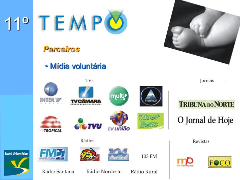11º Parceiros Mídia voluntária Mídia voluntária