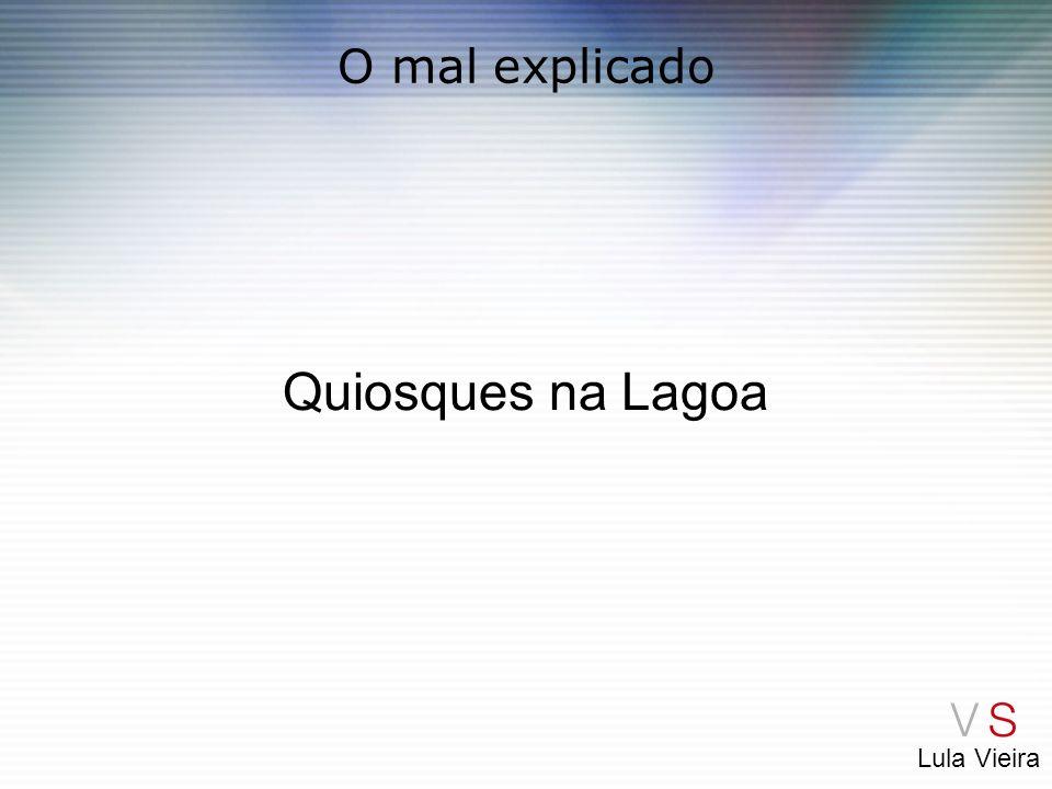 Lula Vieira O mal explicado Quiosques na Lagoa