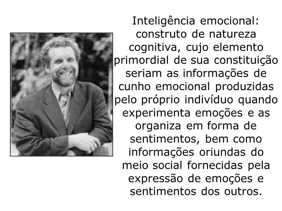 Inteligência emocional: construto de natureza cognitiva, cujo elemento primordial de sua constituição seriam as informações de cunho emocional produzi