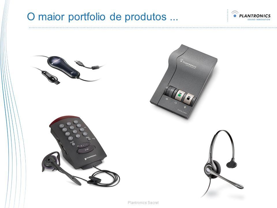 Plantronics Secret O maior portfolio de produtos...
