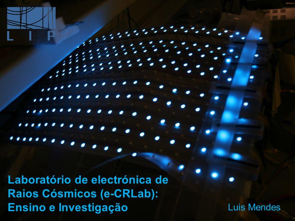 Dedicado principalmente à electrónica digital e desenvolvimento de firmware; Capacidade de desenvolvimento de algum Harware; Ensino: PCLD (Projecto e Controlo em Lógica Digital); Alunos 1º ciclo (BII): Pequenos Projectos; Demonstrador do detector de Fluorescência do Observatório Pierre Auger; Investigação: GAW electronics firmware; LPV3; e-CRLab Laboratório de electrónica de Raios Cósmicos Team: Pelotão: P.