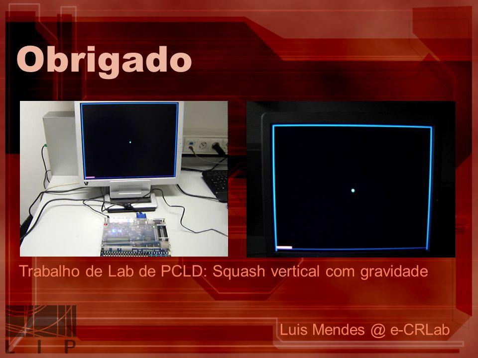 Obrigado Luis Mendes @ e-CRLab Trabalho de Lab de PCLD: Squash vertical com gravidade