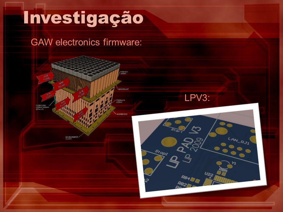 Investigação GAW electronics firmware: LPV3: