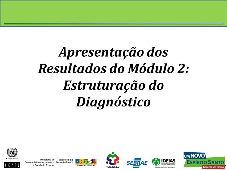 Apresentação dos Resultados do Módulo 2: Estruturação do Diagnóstico