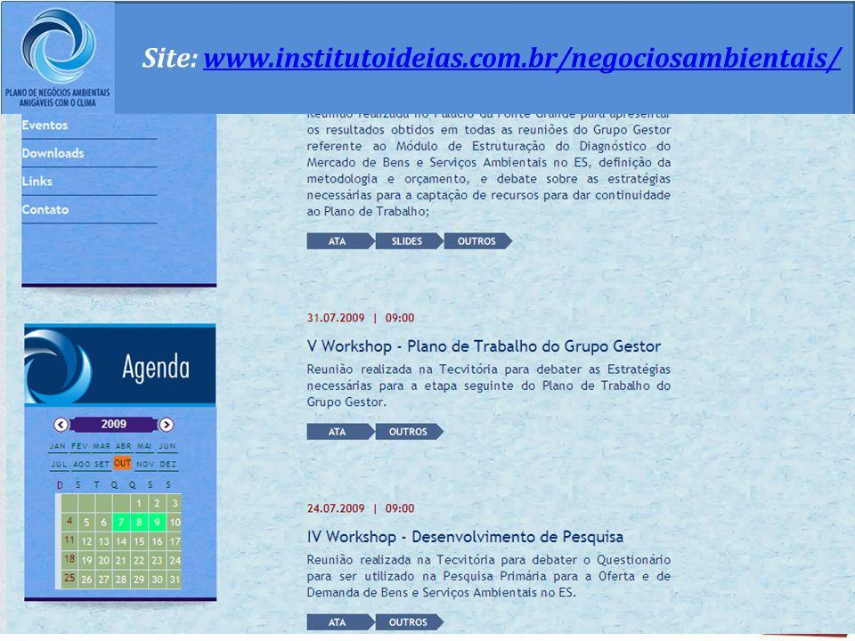 Site: www.institutoideias.com.br/negociosambientais/www.institutoideias.com.br/negociosambientais/