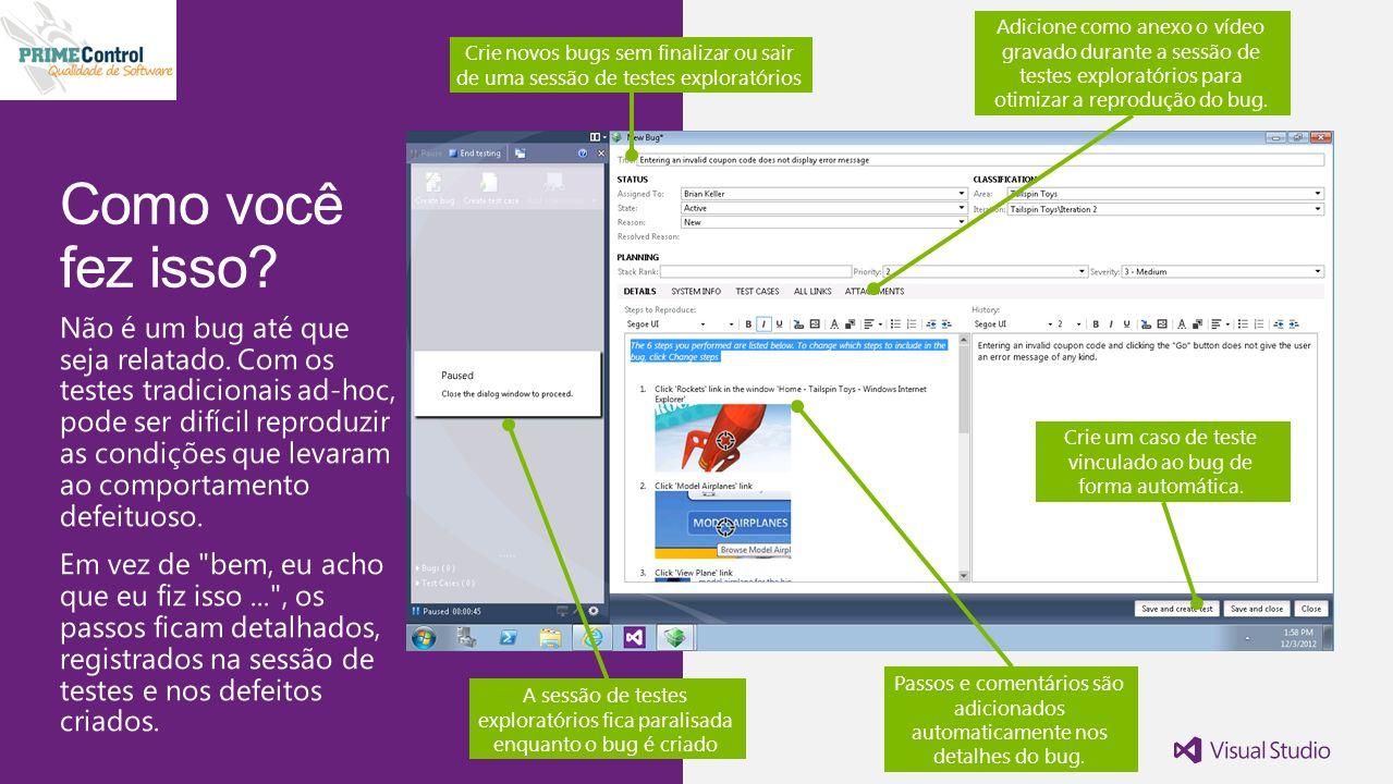 Passos e comentários são adicionados automaticamente nos detalhes do bug.