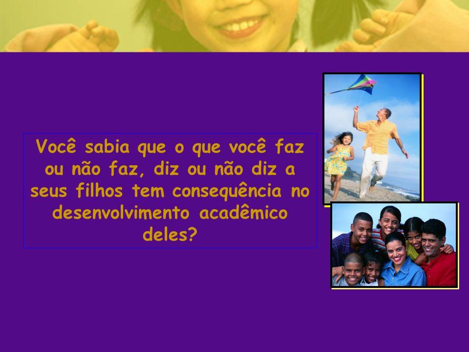 Você sabia que o que você faz ou não faz, diz ou não diz a seus filhos tem consequência no desenvolvimento acadêmico deles?