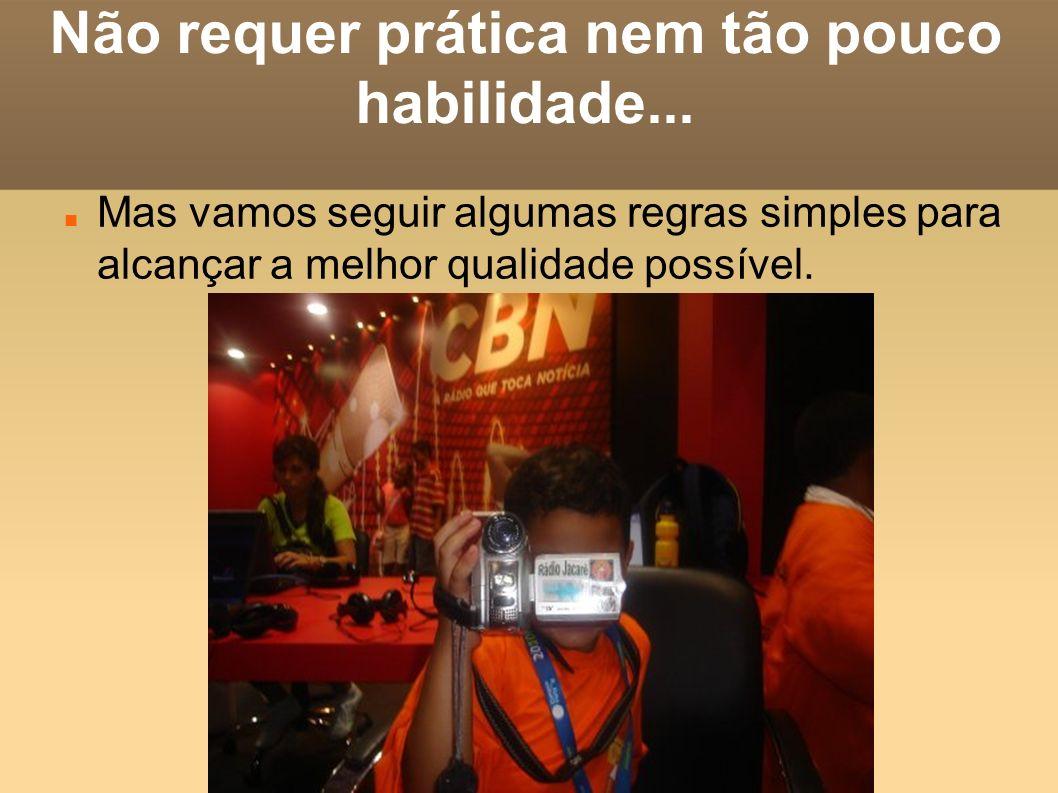 SOM bem pertinho do elocutor (quem fala) Thiago filmando no Global Greens 2008.