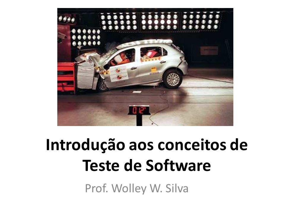 Introdução aos conceitos de Teste de Software Prof. Wolley W. Silva