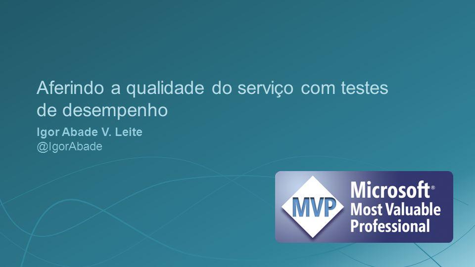 Aferindo a qualidade do serviço com testes de desempenho Igor Abade V. Leite @IgorAbade