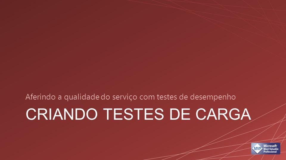 CRIANDO TESTES DE CARGA Aferindo a qualidade do serviço com testes de desempenho