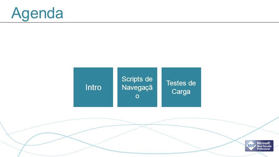 Agenda Intro Scripts de Navegaçã o Testes de Carga