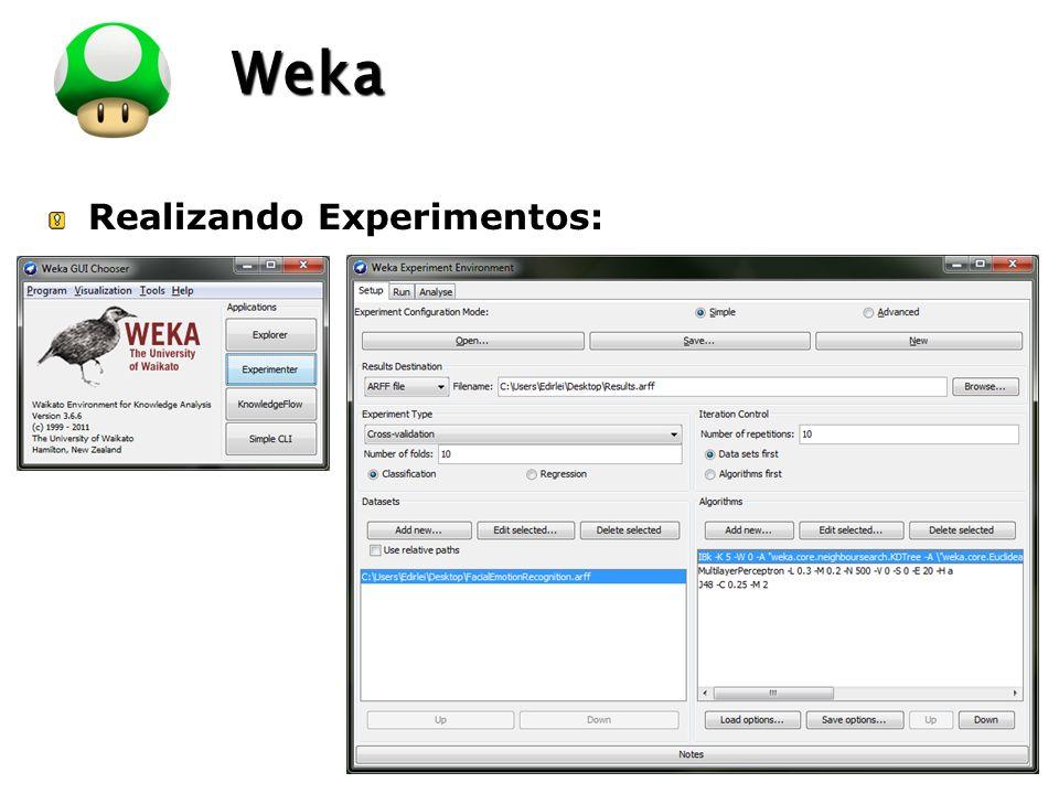 LOGO Realizando Experimentos: Weka