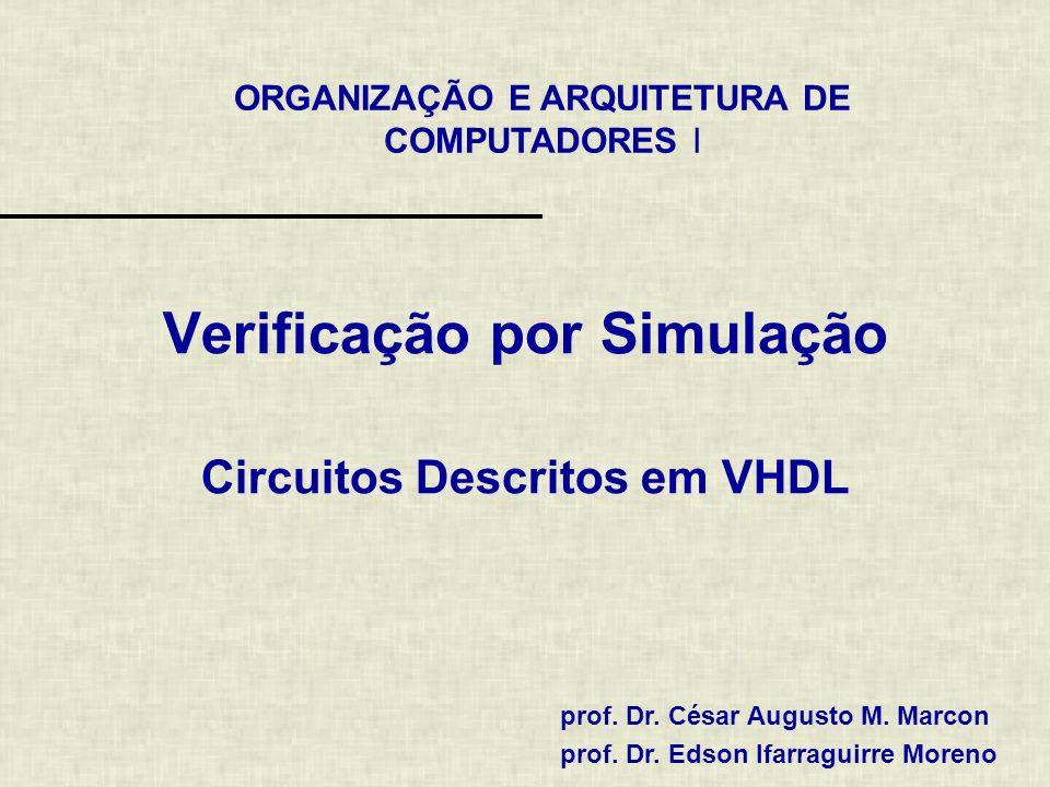 ORGANIZAÇÃO E ARQUITETURA DE COMPUTADORES I prof. Dr.