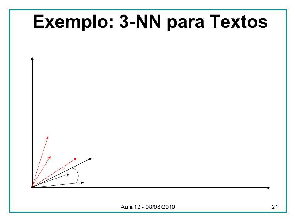 Exemplo: 3-NN para Textos Aula 12 - 08/06/201021