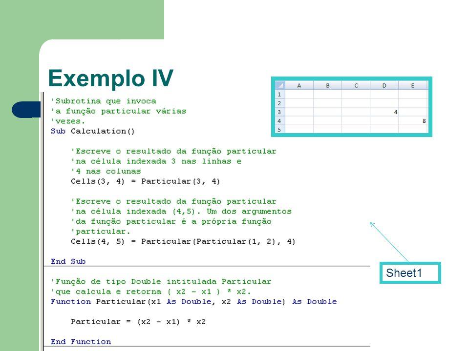 Exemplo IV Sheet1