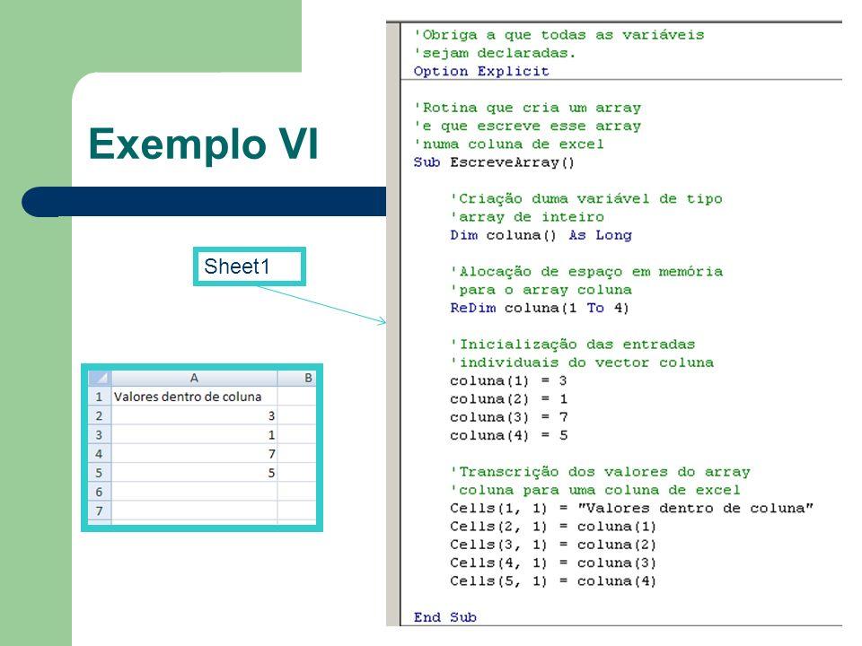 Exemplo VI Sheet1