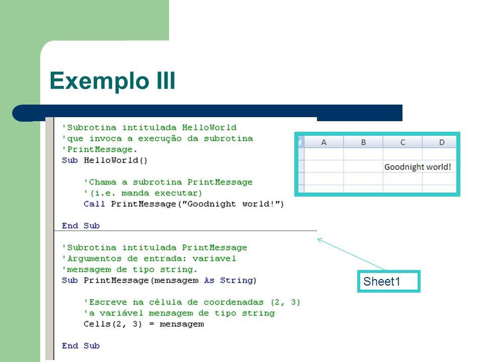 Exemplo III Sheet1