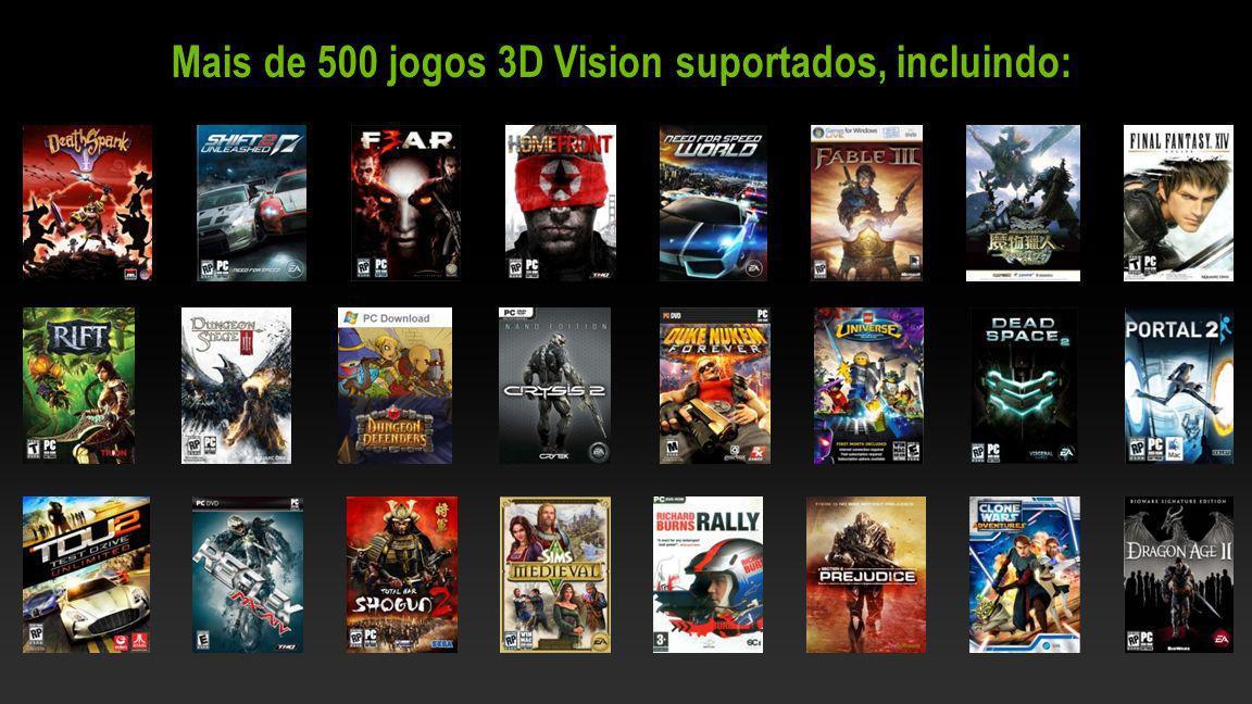 NVIDIA Confidential Mais de 500 jogos 3D Vision suportados, incluindo: