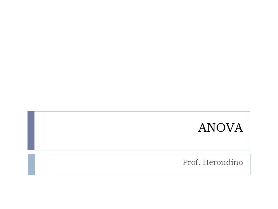 ANOVA Análise de variância (Analysis of variance -ANOVA) é um método para testar dois ou mais tratamentos para determinar se a sua amostra média poderia ter sido obtido a partir de populações com a mesma média real.