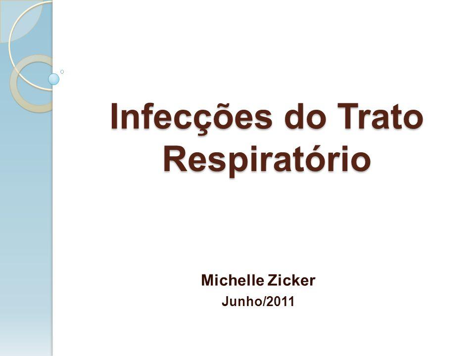 Infecções do Trato Respiratório Michelle Zicker Junho/2011
