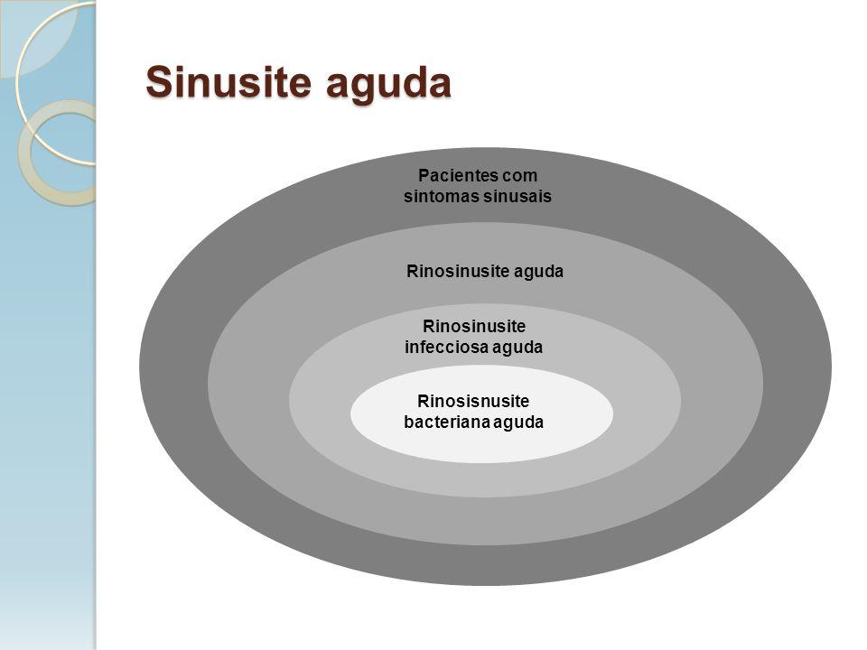 Sinusite aguda Pacientes com sintomas sinusais Rinosinusite aguda Rinosinusite infecciosa aguda Rinosisnusite bacteriana aguda