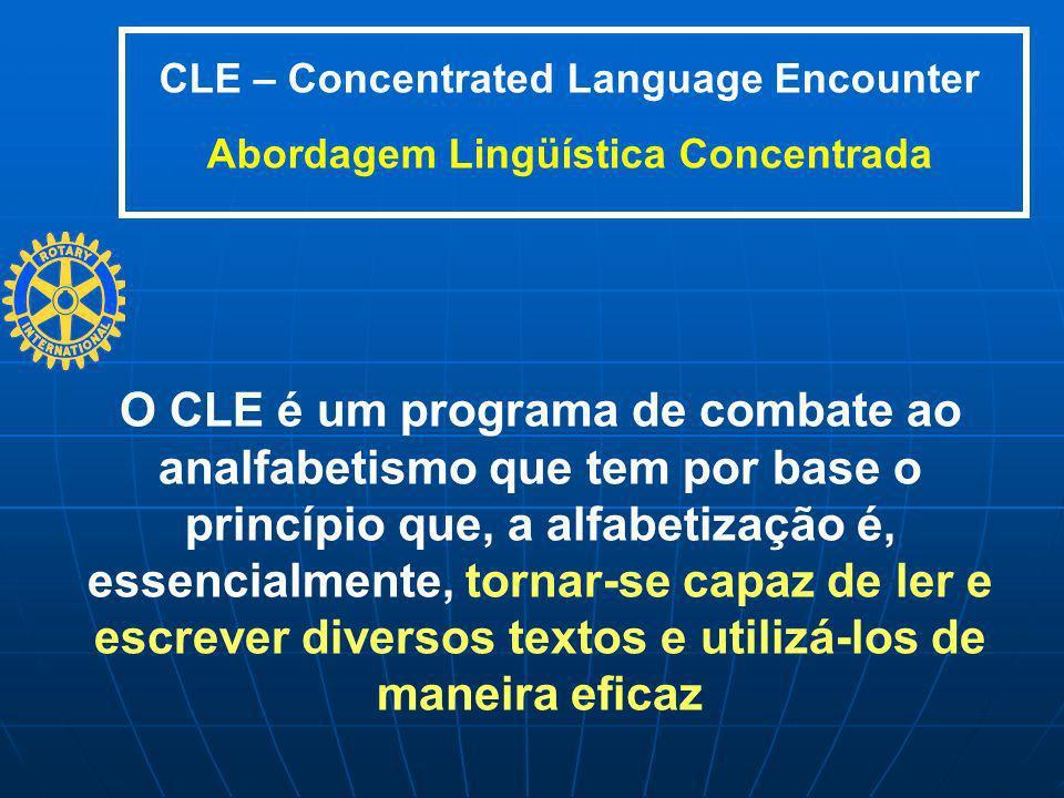 O CLE é um programa de combate ao analfabetismo que tem por base o princípio que, a alfabetização é, essencialmente, tornar-se capaz de ler e escrever