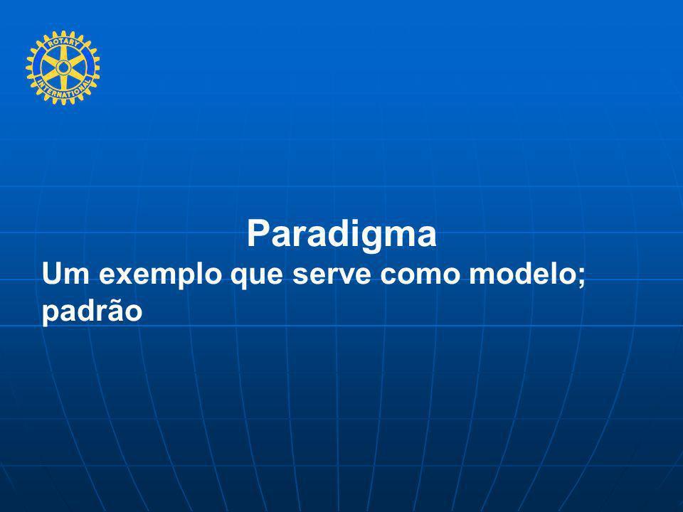 Paradigma Um exemplo que serve como modelo; padrão