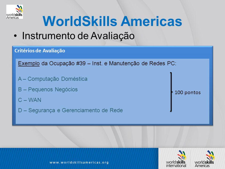 WorldSkills Americas Instrumento de Avaliação Exemplo da Ocupação #39 – Inst.